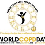 21 de novembro – Dia Mundial da DPOC 2018
